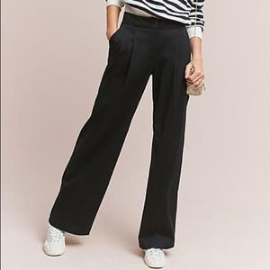 Anthropologie Essential Wide-leg Trousers